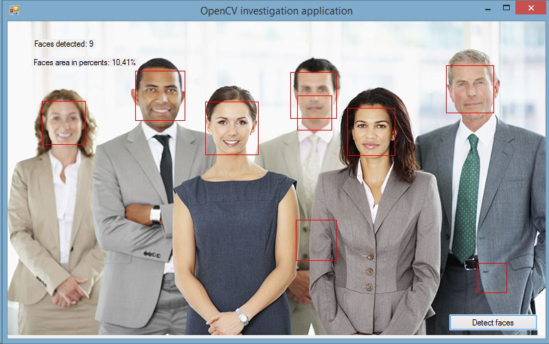 Face detection software using OpenCV