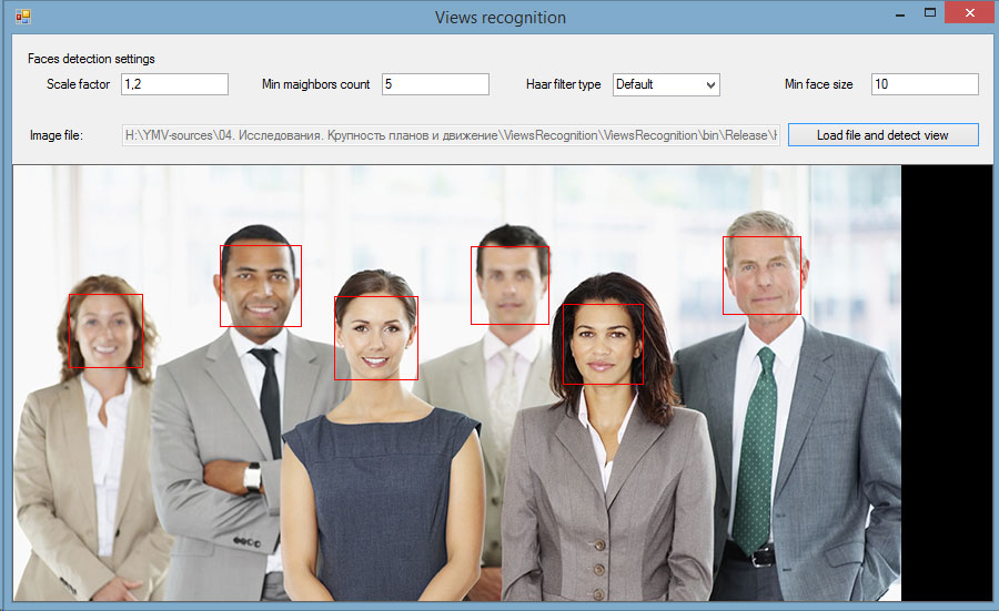 Face detection software using OpenCV with advanced settings – Ambler